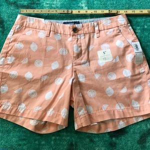 NWTO Old Navy shorts peach white size 0
